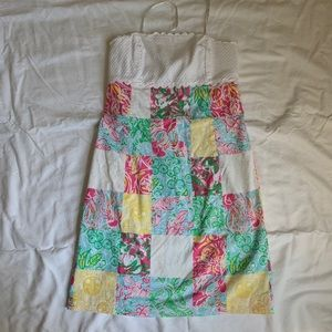 Strapless Lilly Pulitzer Patchwork Dress